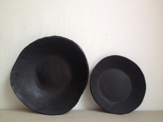 Two mat bowls