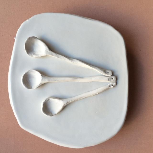 unglazed spoons