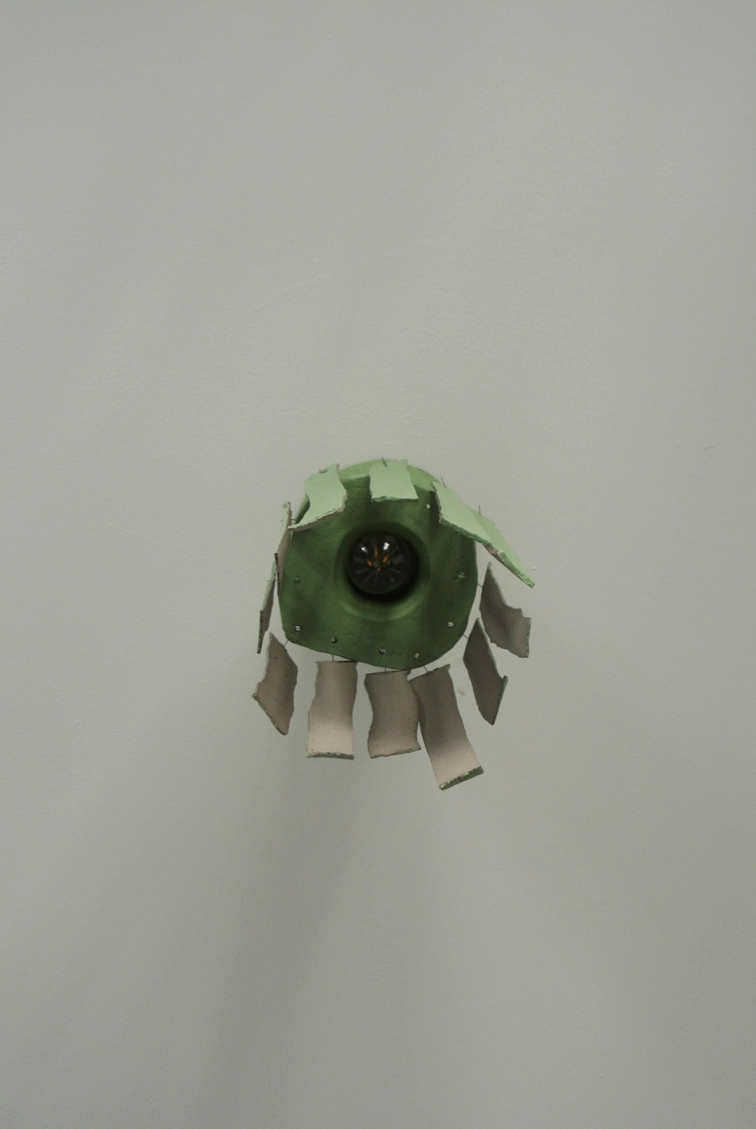 Lichen green ceiling lamp 3
